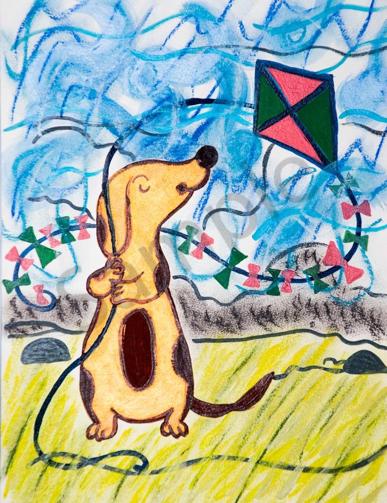 Dog Flying Kite