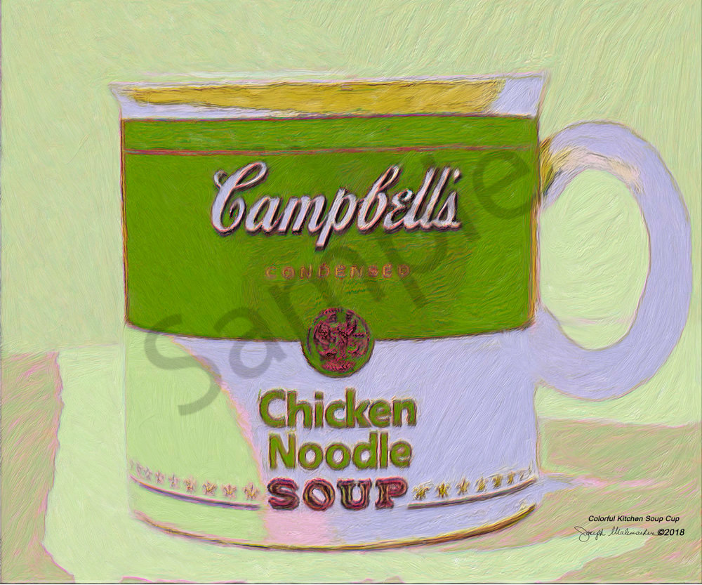 Colorful Kitchen Soup Cup - The Gallery Wrap Store