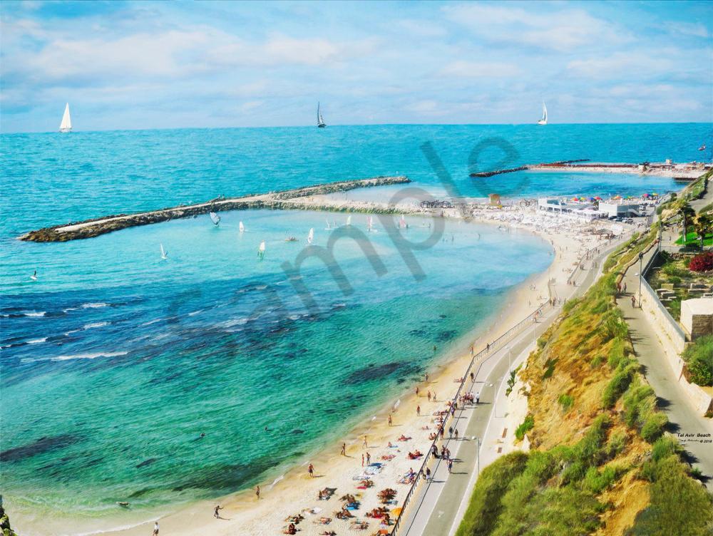 Tel Aviv Beach - The Gallery Wrap Store