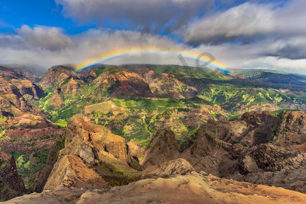 Hawaii Nature Photography Waimea Canyon Rainbow By Peter