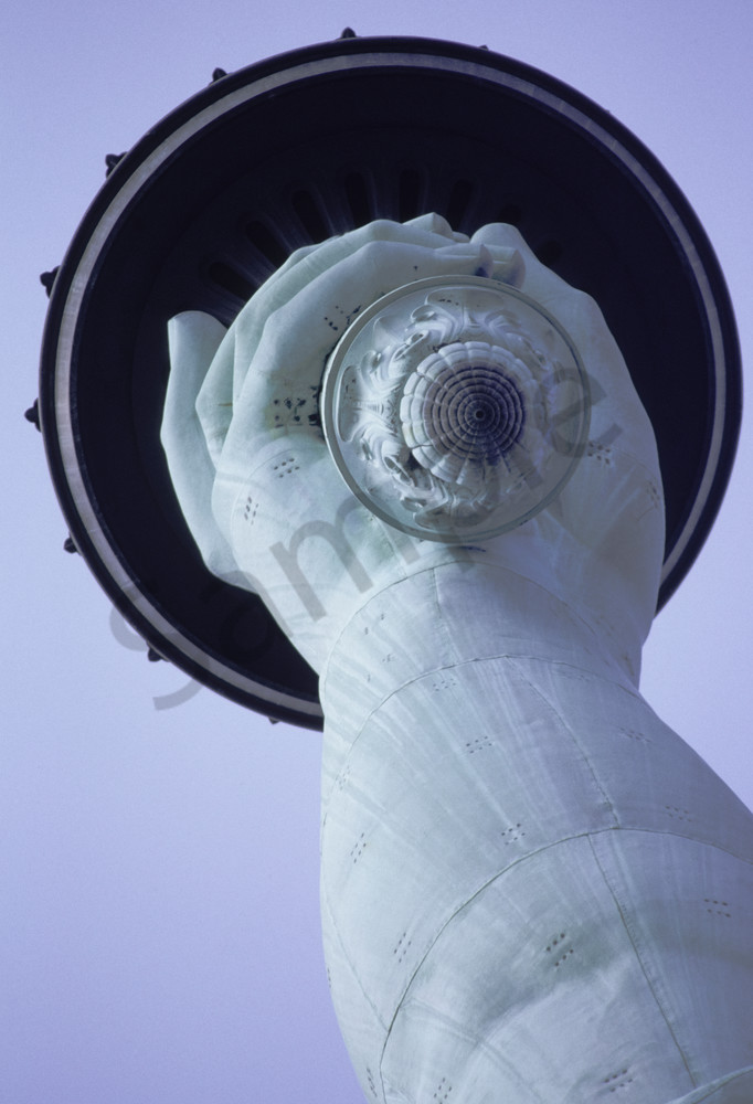 Statue of Liberty Torch and  Hand Detail