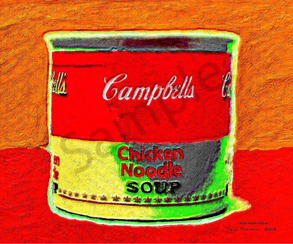 Bright Kitchen Pop Art - The Gallery Wrap Store