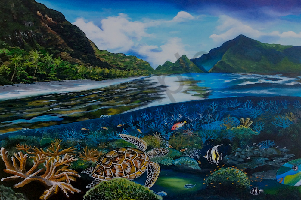 Polynesian Art Ofu Beach As By Mark Faulkner