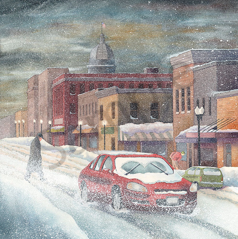 Snow Scene fine art print by Jim Dolan.