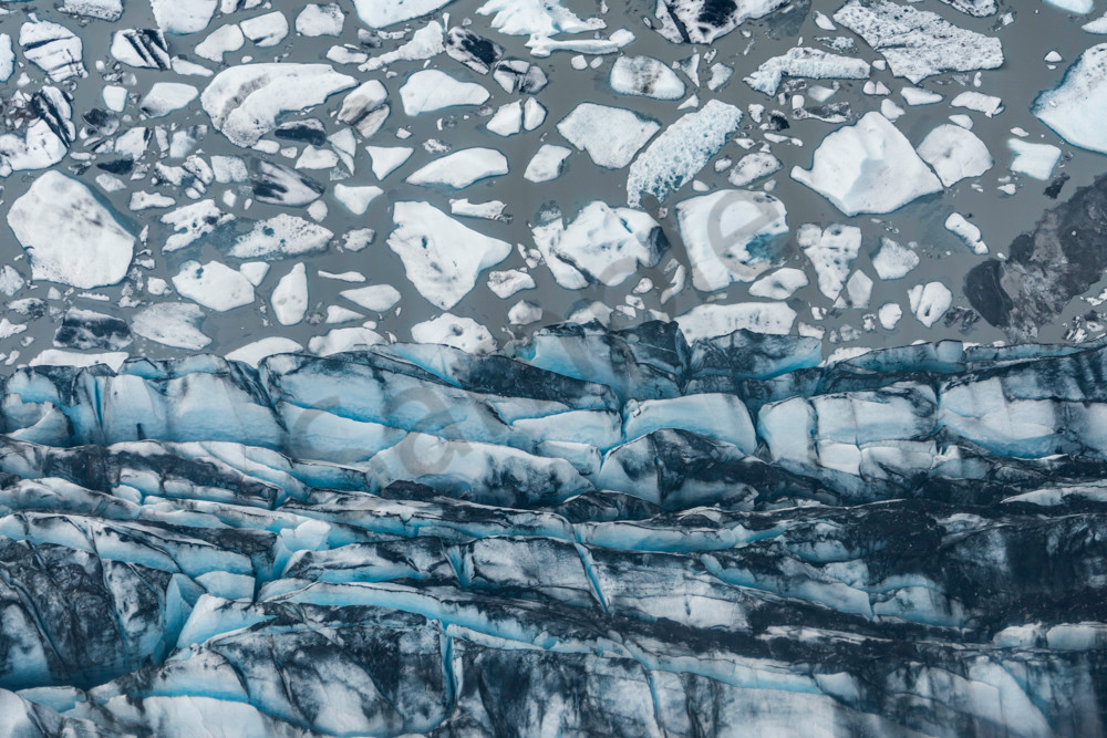 Knik Glacier Seen From The Air Photography Art | Avner Ofer Photography