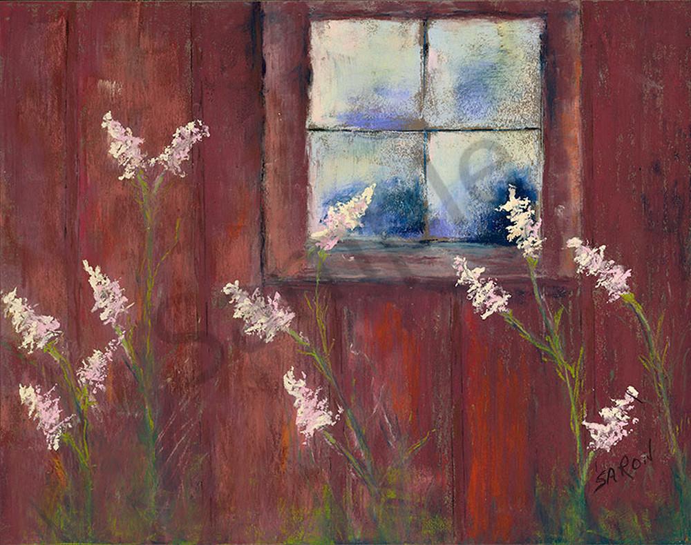 Barn Window fine art print by Dianne Saron.