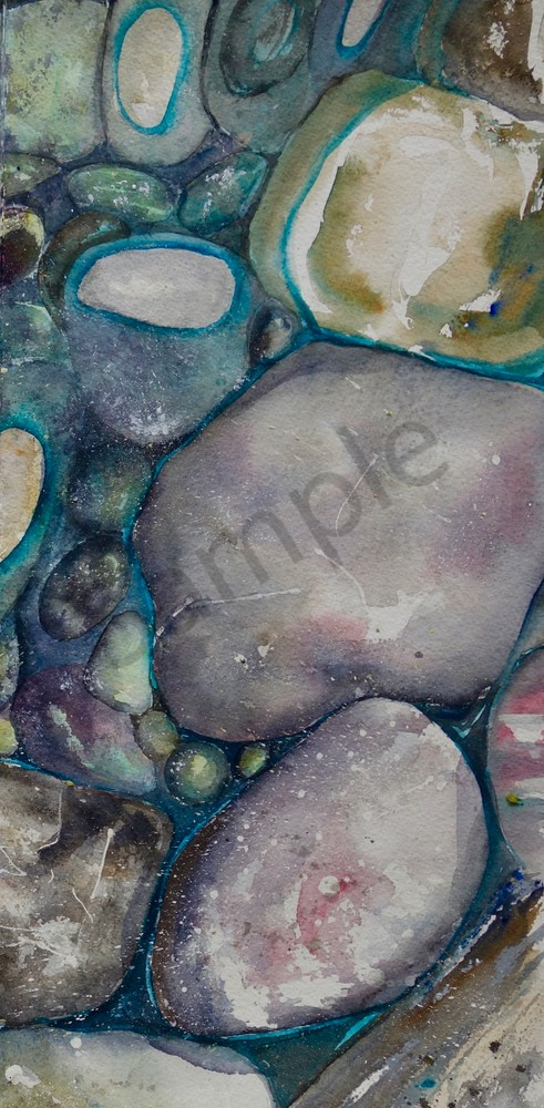 River Rock Triptych, panel 3
