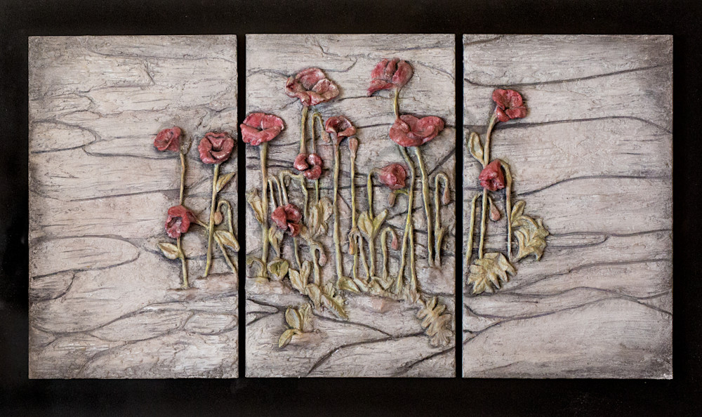 Poppies Cluster Art | Lafille Gallery