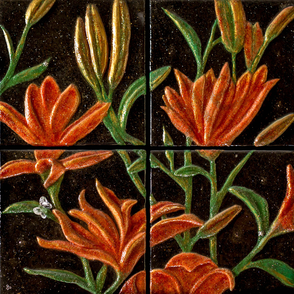 Tiger Lilies By Night Art | Lafille Gallery