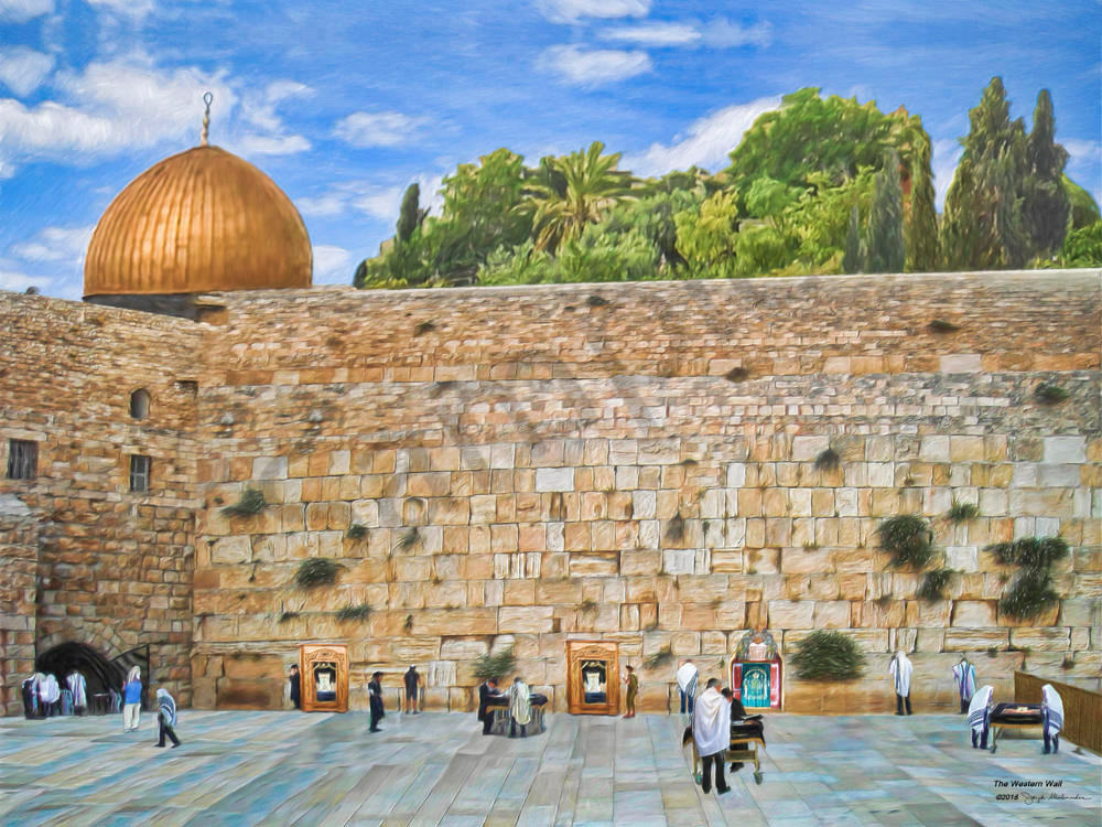 Israel's Western Wall - The Gallery Wrap Store