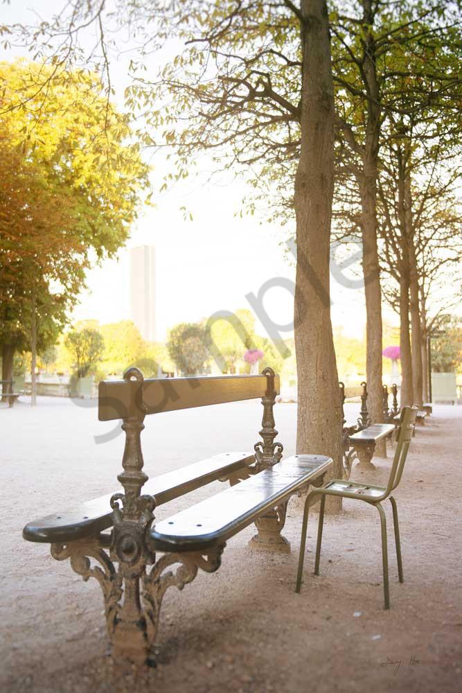 Bench in Jardin du Luxembourg