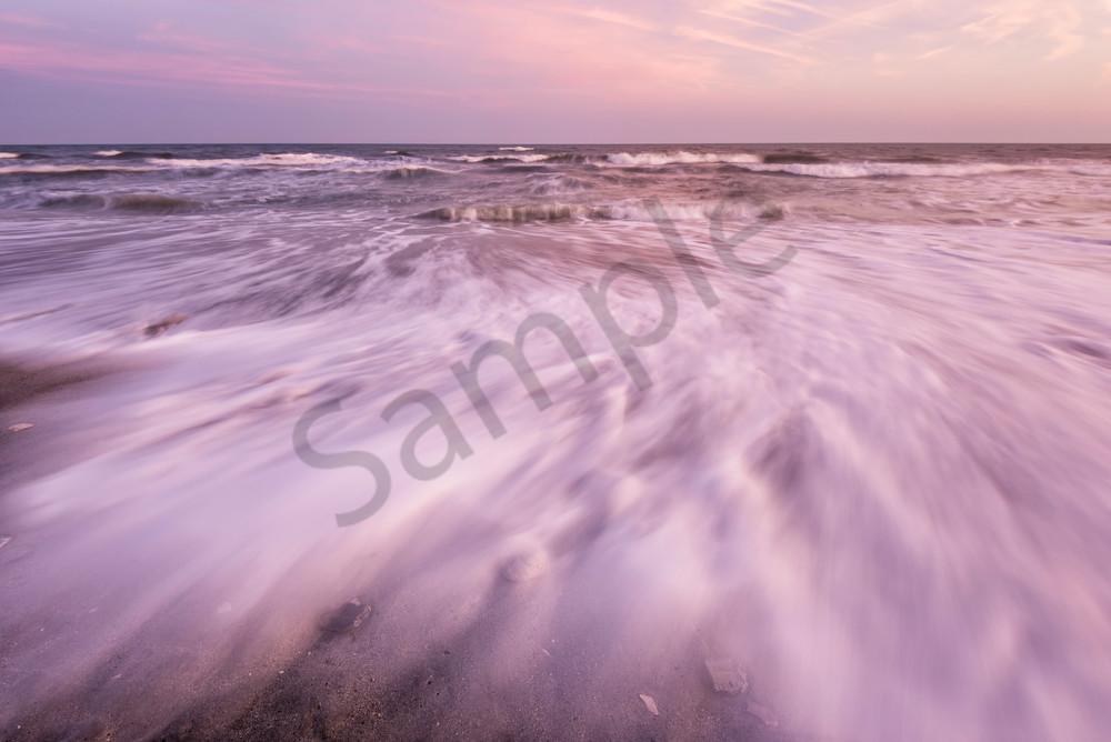 Folly Beach Sunset Wave Motion