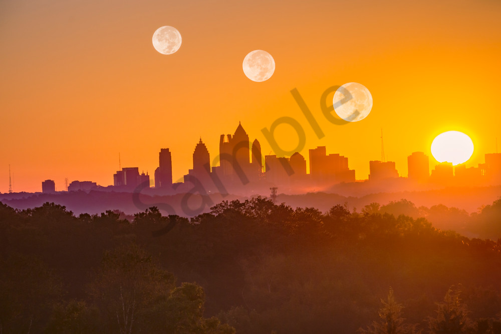 Sunrise Moonrise [Atlanta] | Susan J Photography