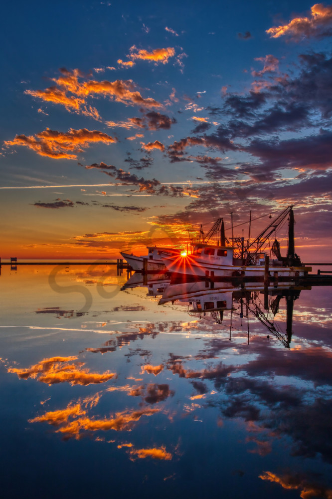 Sun Kissed Shrimper Photography Art | John Martell Photography