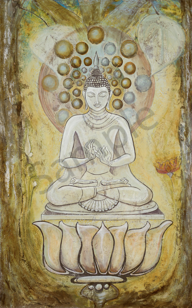 Buddha Under Tree Art | FireFlower Art