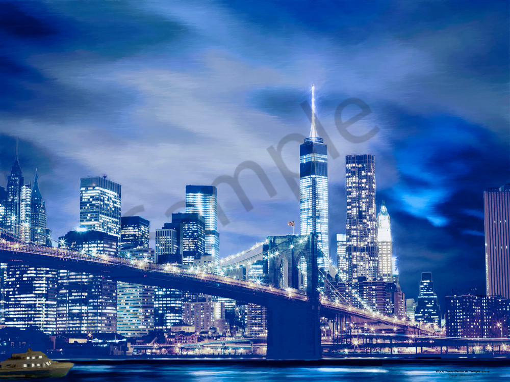 World Trade Center At Twilight - The Gallery Wrap Store