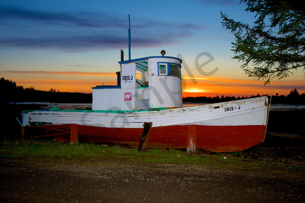 Vintage fishing boat in the Florence area, Oregon.