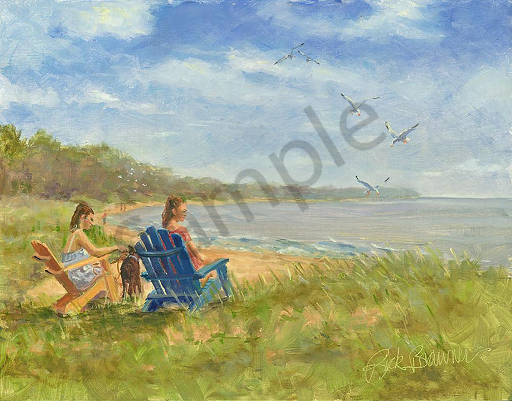 """Beach Chairs"" fine art print by Rick Brawner."
