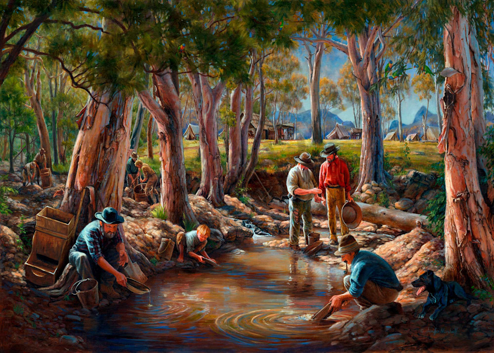 Gold Panning in Oakey Creek