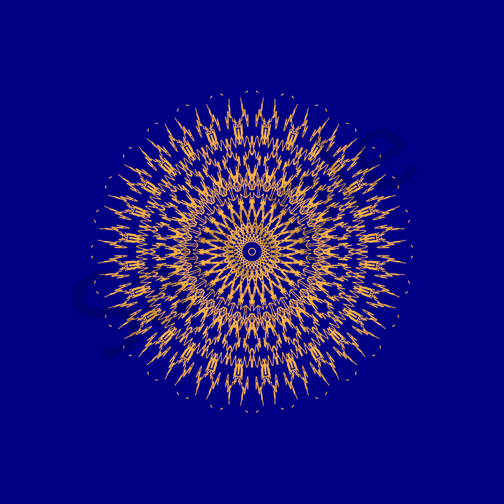 Reiki 11in Blue and Gold
