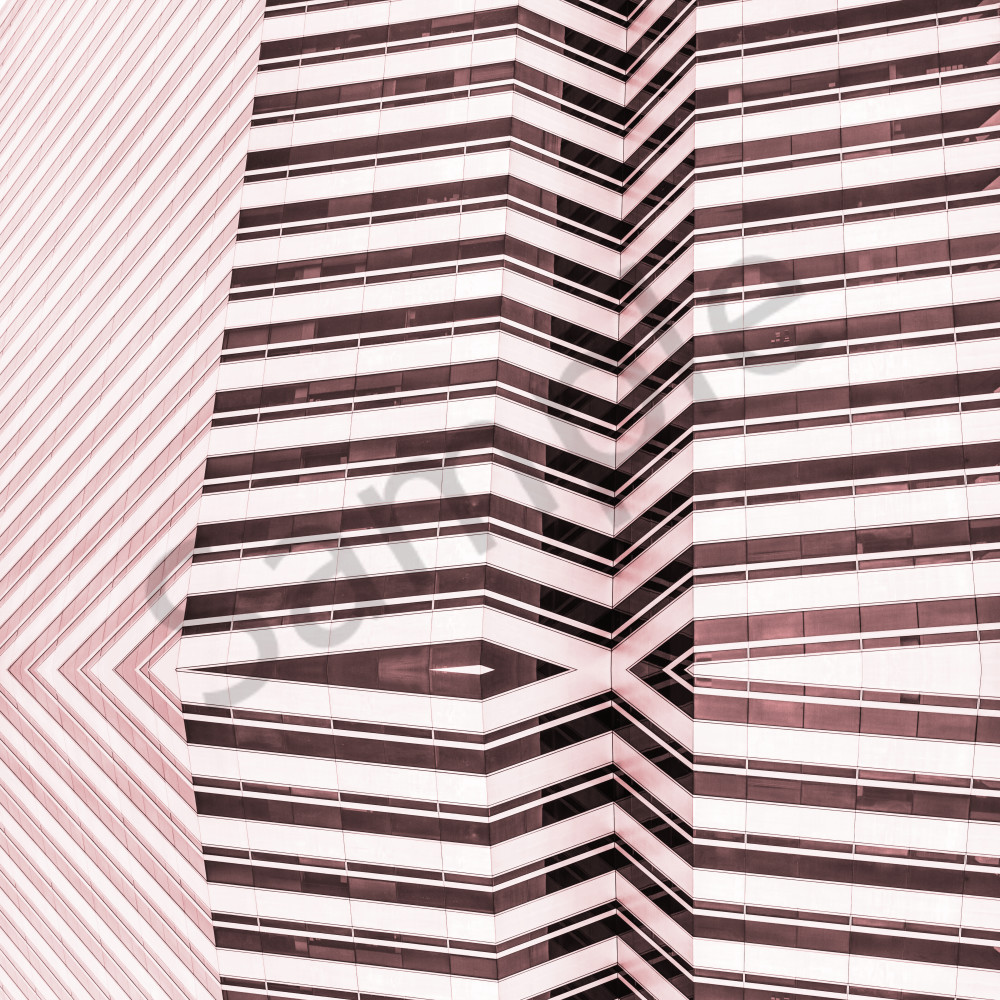pink stripes square