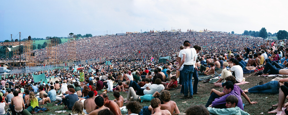 Panorama Woodstock Crowd  Art | Cunningham Gallery