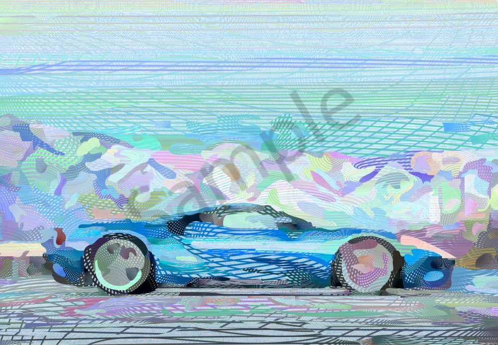 FORD GT Super car algorithmic art and photographs by Peter McClard