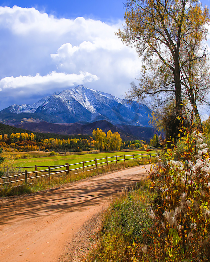 Snowcapped Mt. Sopris in Colorado-shop art/MasonandMasonImages
