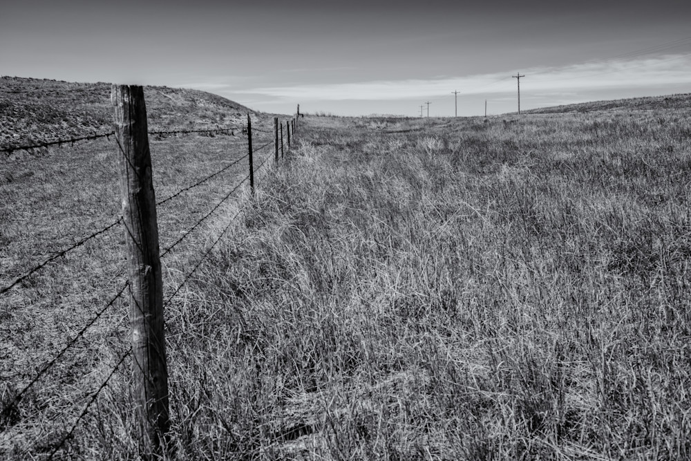 Fence Line, Highway 85   Eastern Wyoming Photography Art | Namaste Photography