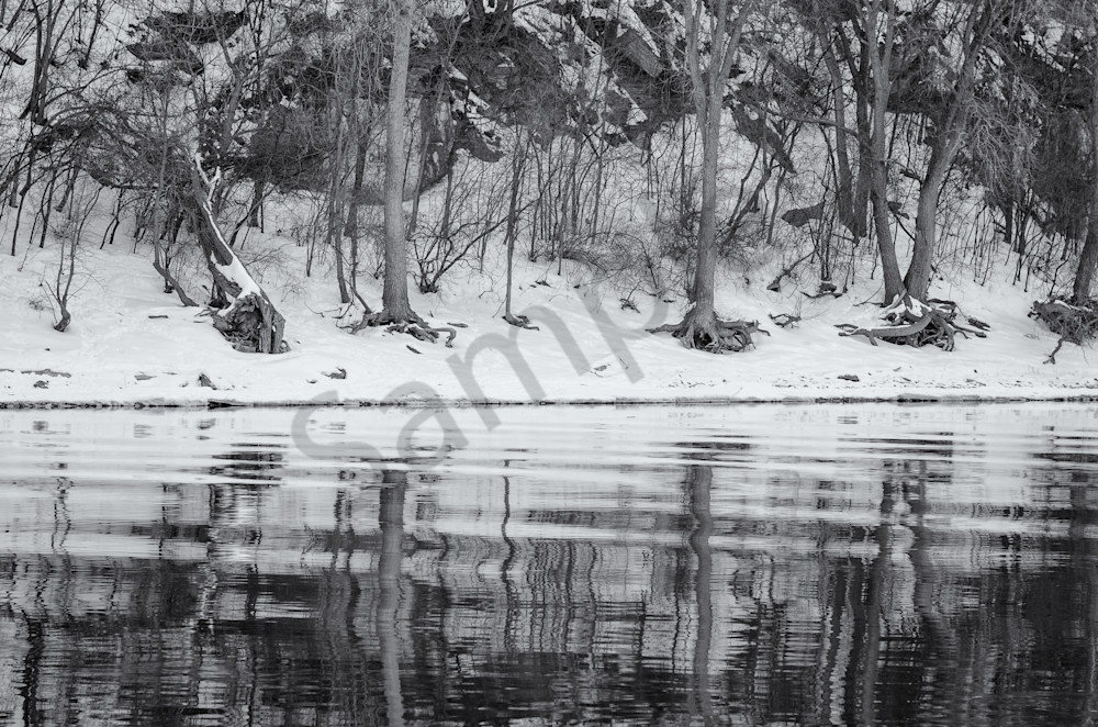 Winter Reflections - Mississippi River, MN