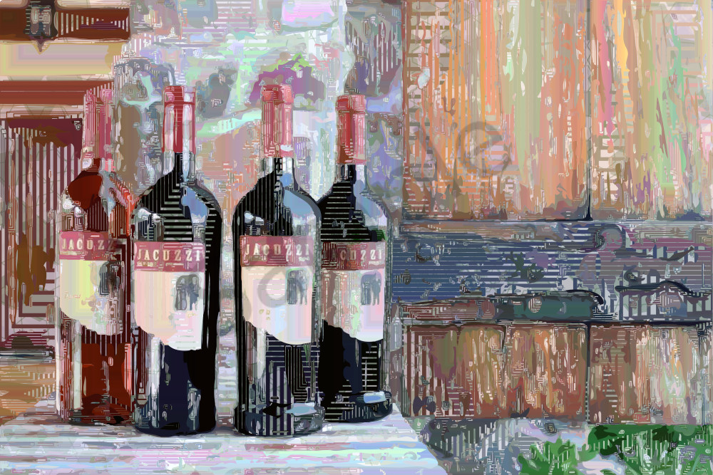 Jacuzzi Wine art, pride of Sonoma Valley. Jacuzzi Winery, Sonoma, wine art, California, USA.  Prints, canvas, posters by Peter McClard at BrillianceGallery.com