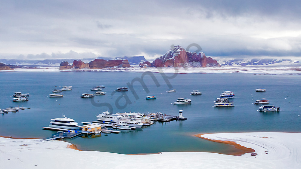 Riding Out Winter at Lake Powell - shop art/Masonandmasonimages.com