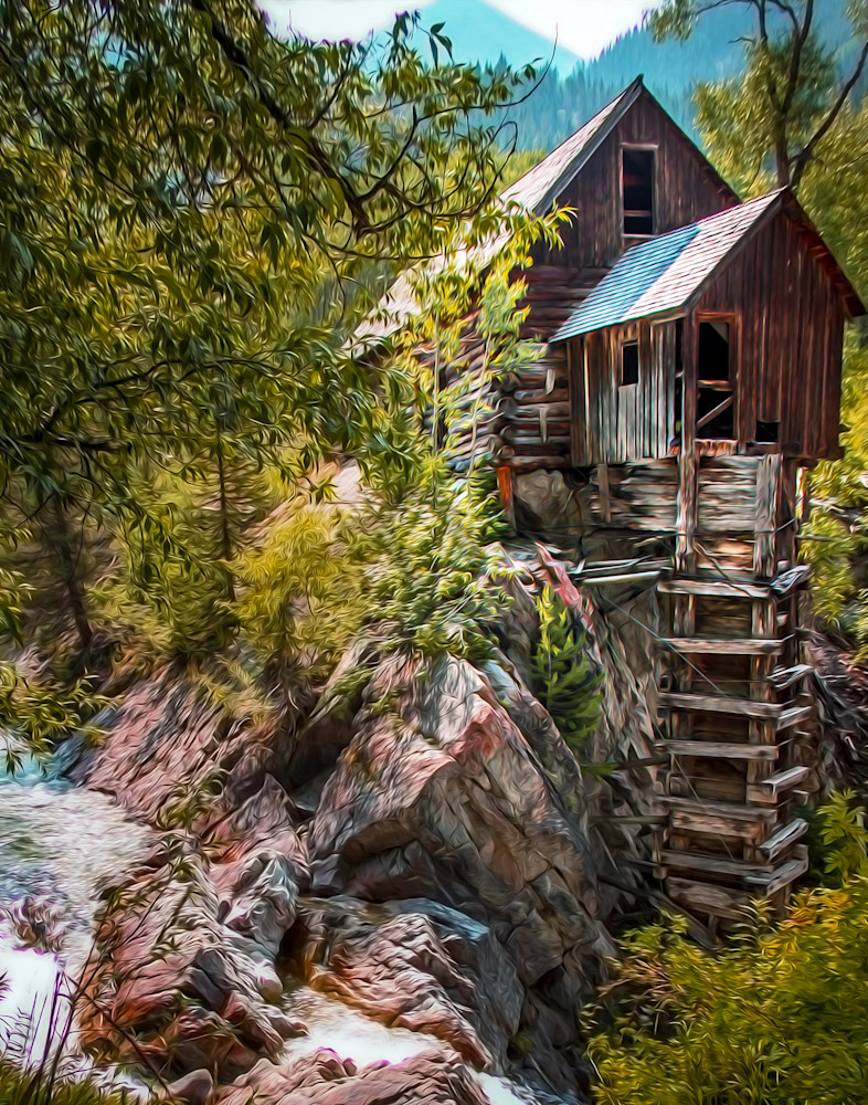 Crystal Mill in Oil - shop art/Masonandmasonimages.com