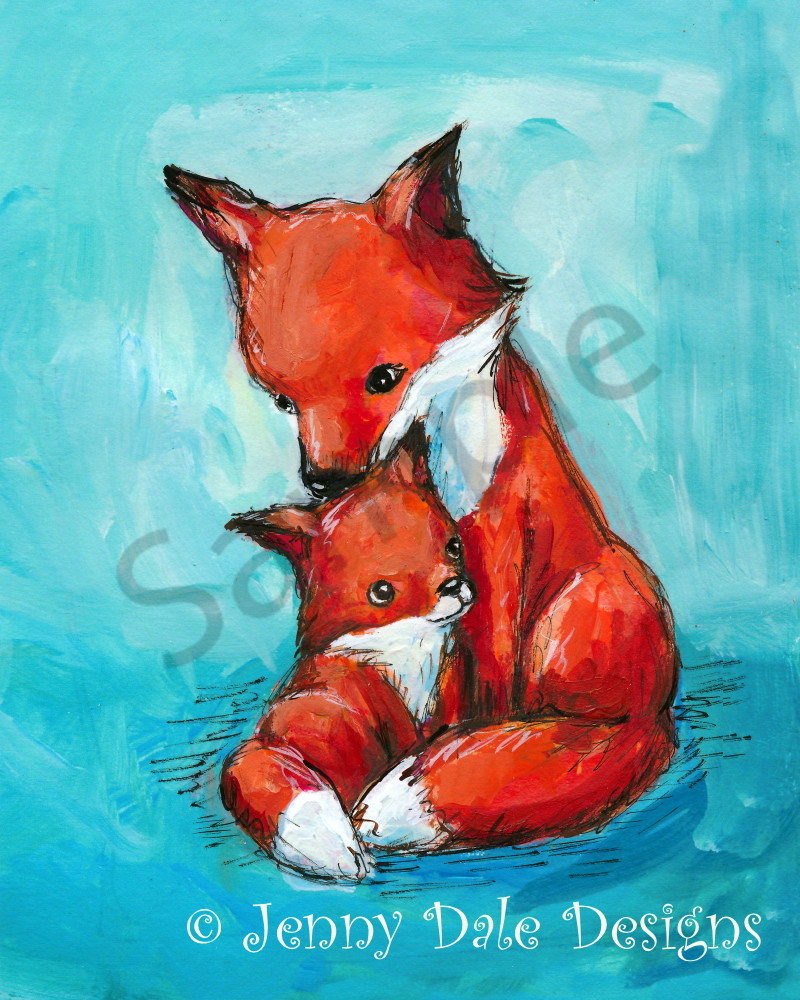 Fox Mom and Baby Art | Jennifer Stables