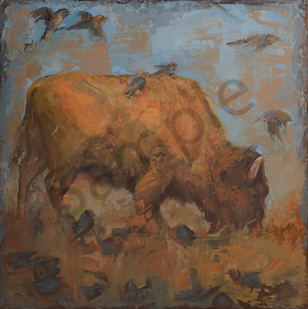 I Learn From Nature42x42 Good Pic Art | Mary Roberson