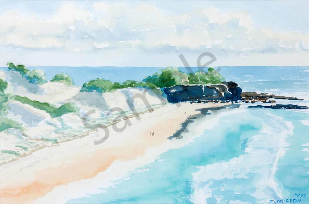 View of Frenchman's Beach, North Stradbroke Island.