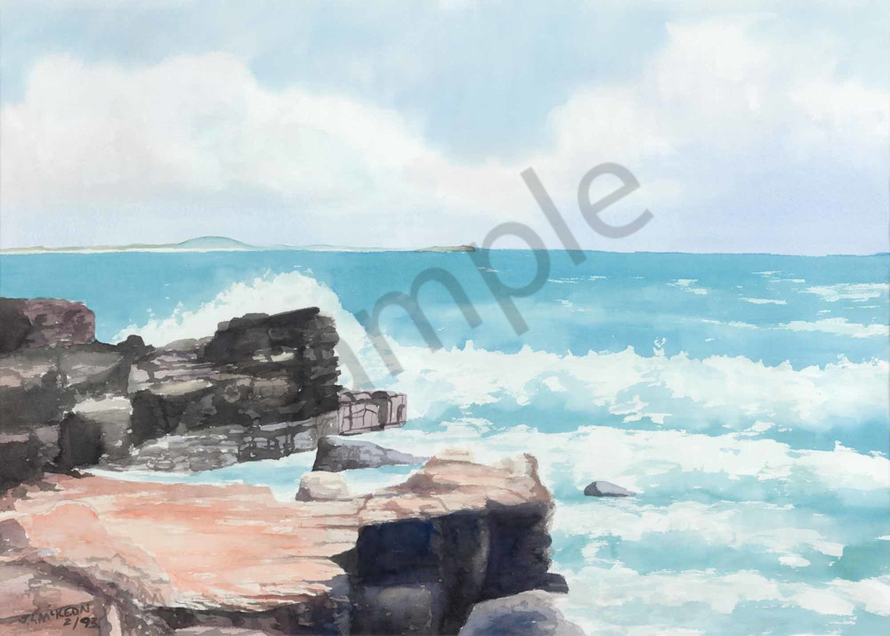Ocean and rocks at The Sunshine Coast.