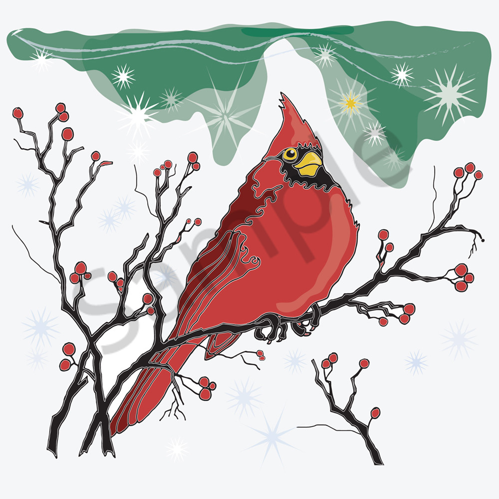 Christmas Cardinal by Robert Johnson