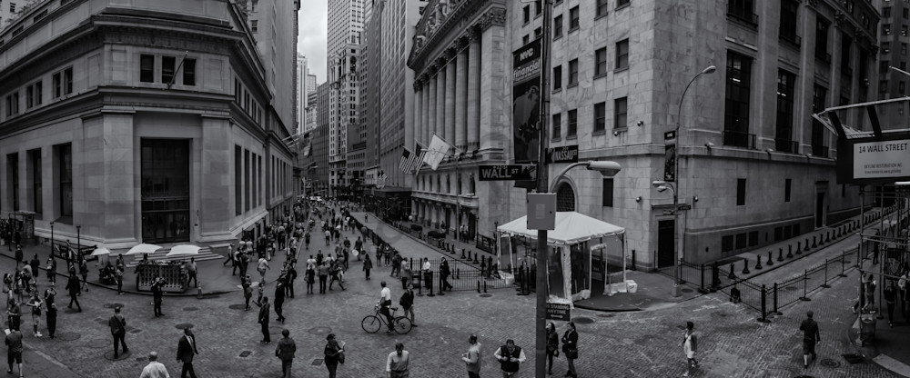Wall Street Scene Photography Art | Namaste Photography