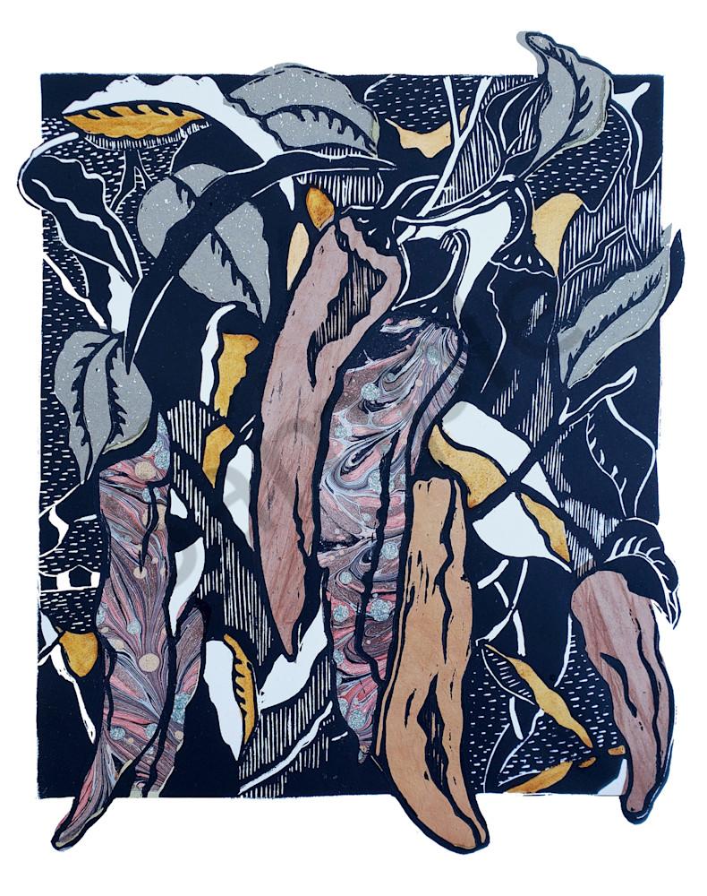Handprint originals and fine art prints for sale|Graphic Botanicals, Chiles