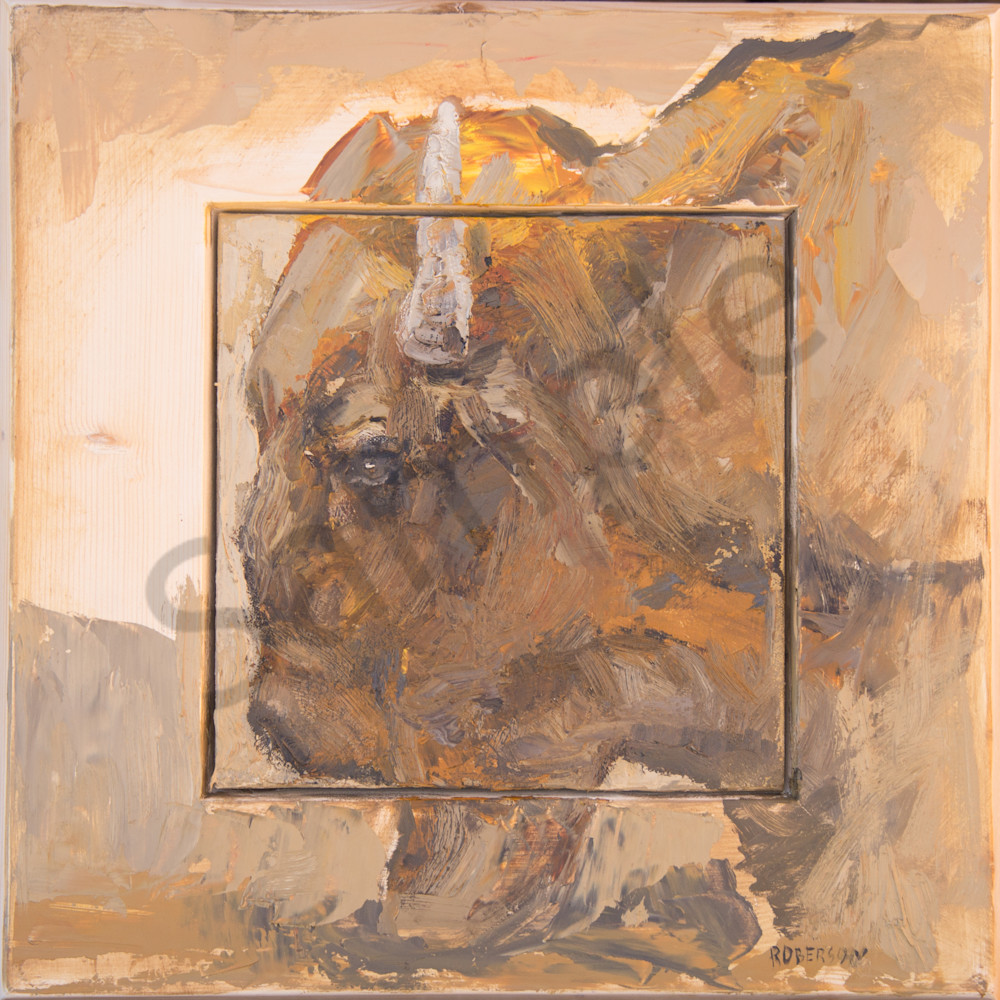 Pf Triptych Bison Art | Mary Roberson