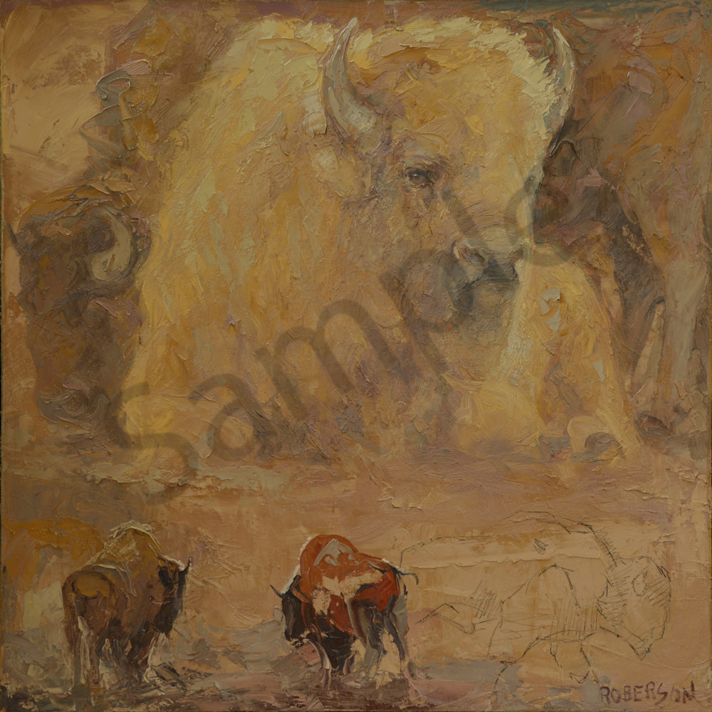 For The White Bison Art   Mary Roberson