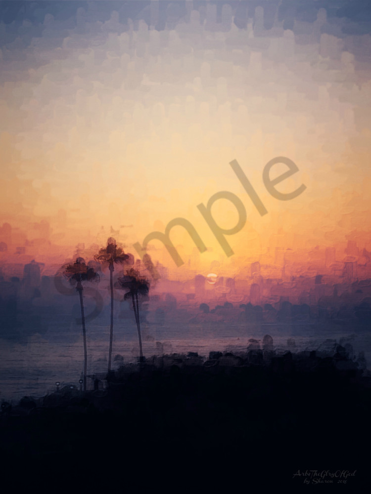 Joy - Summer Sunset in Capistrano - digital painting photograph