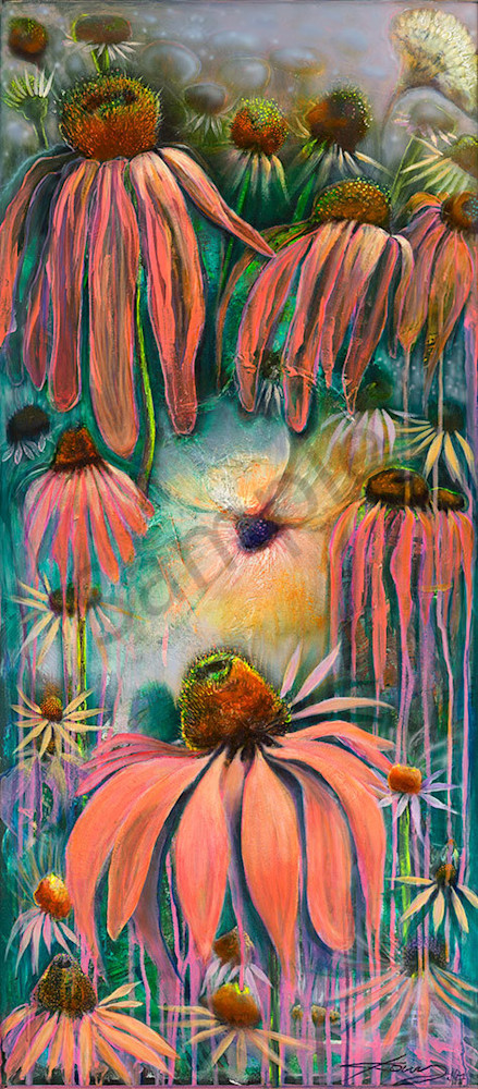 """Purple Coneflowers"" fine art print by Peter Koury."