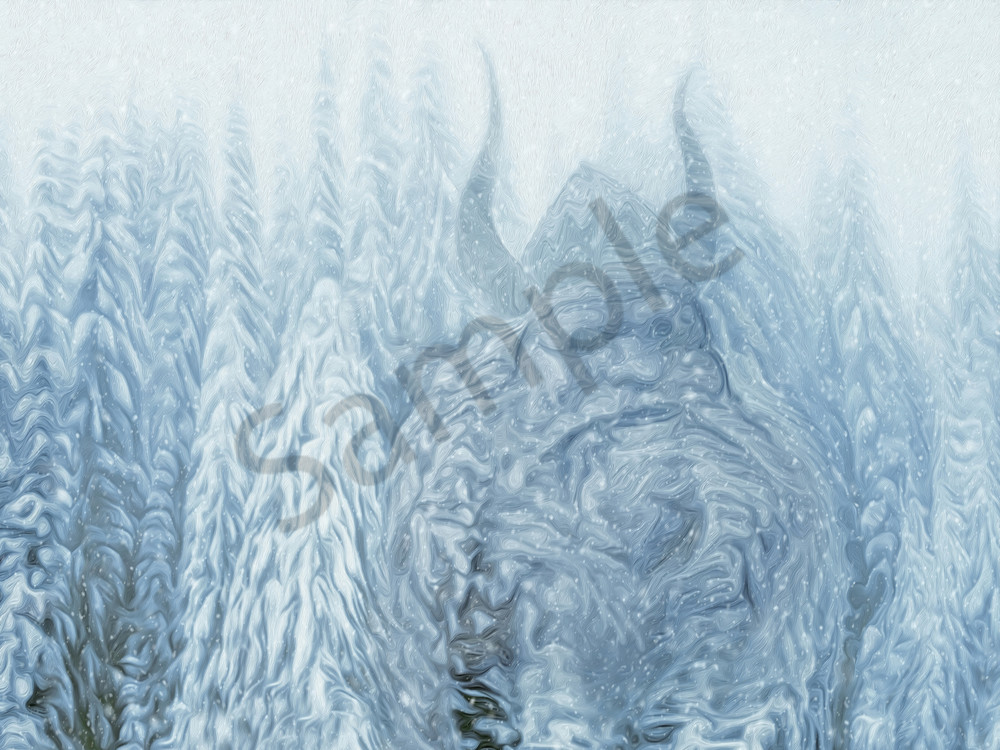 Ullr Lives Here 40 By 30 Art | shawn morris creative