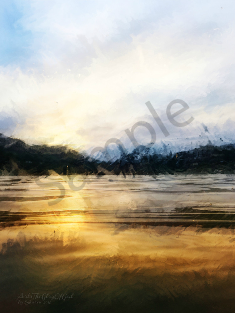 """""""Water of Wisdom..."""" - digital painting photograph"""