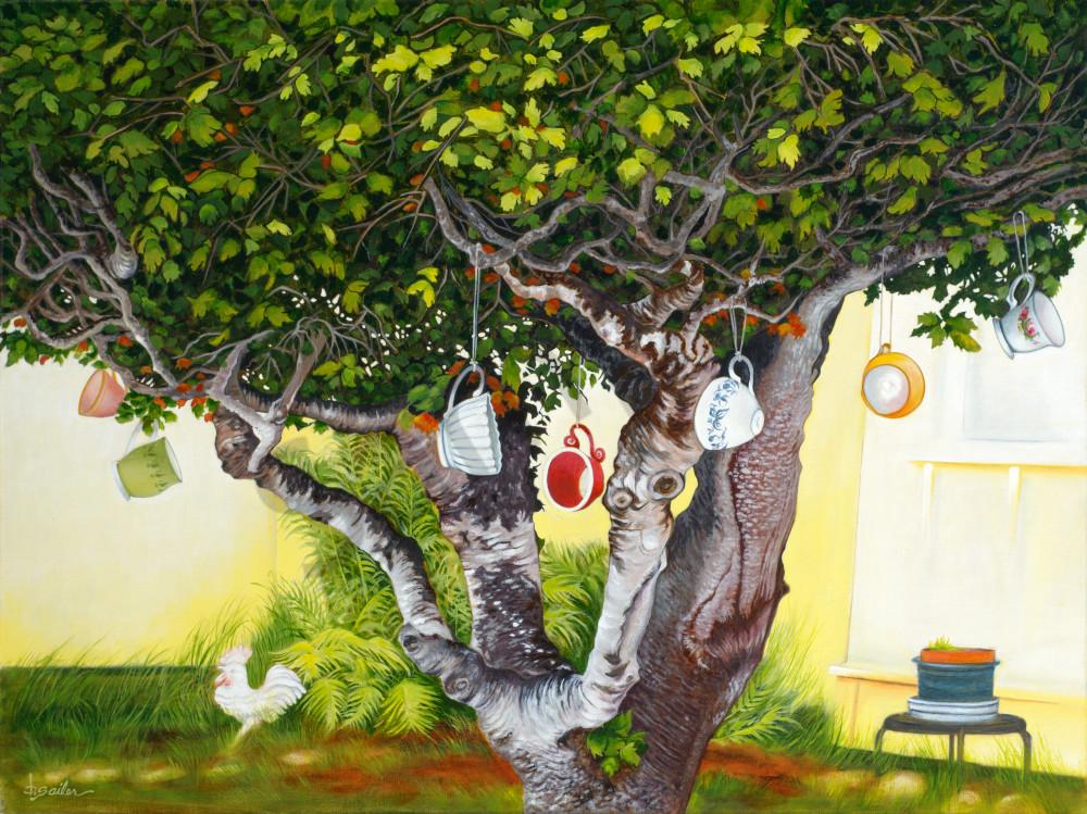 """Tea Cup Tree On 12th Street"" Art | Bonnie Sailer Fine Art"