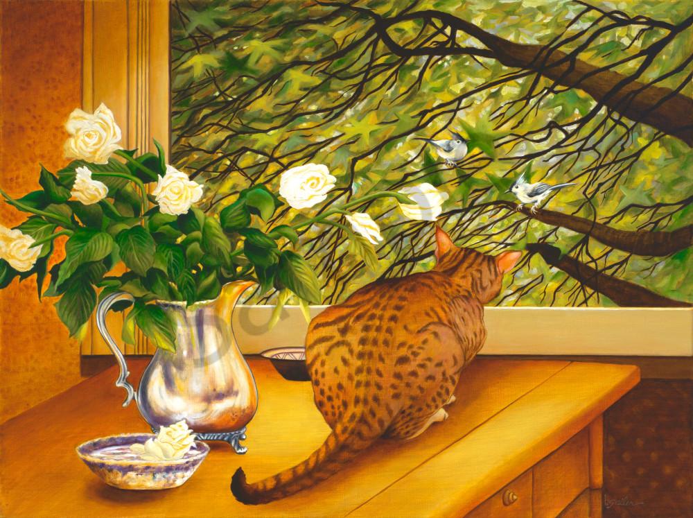 """""""Bird Watching"""" Art   Bonnie Sailer Fine Art"""