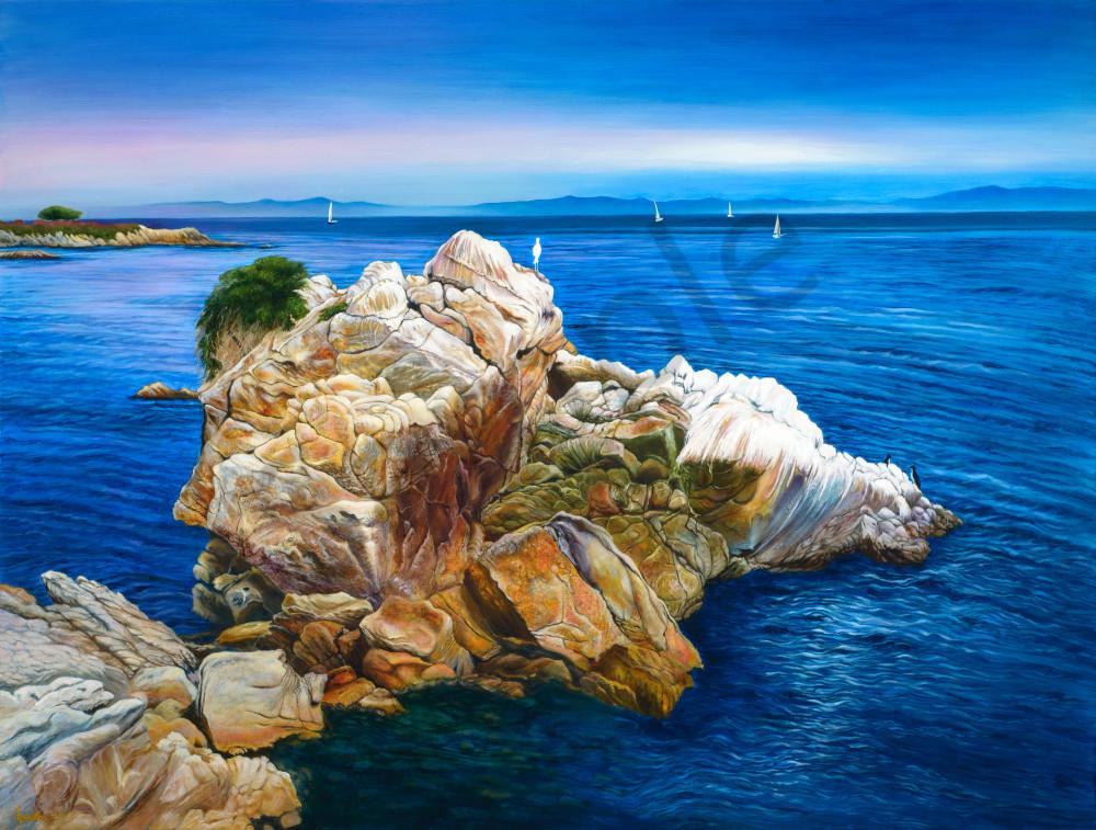 """October Egret, Pacific Grove"" Art | Bonnie Sailer Fine Art"