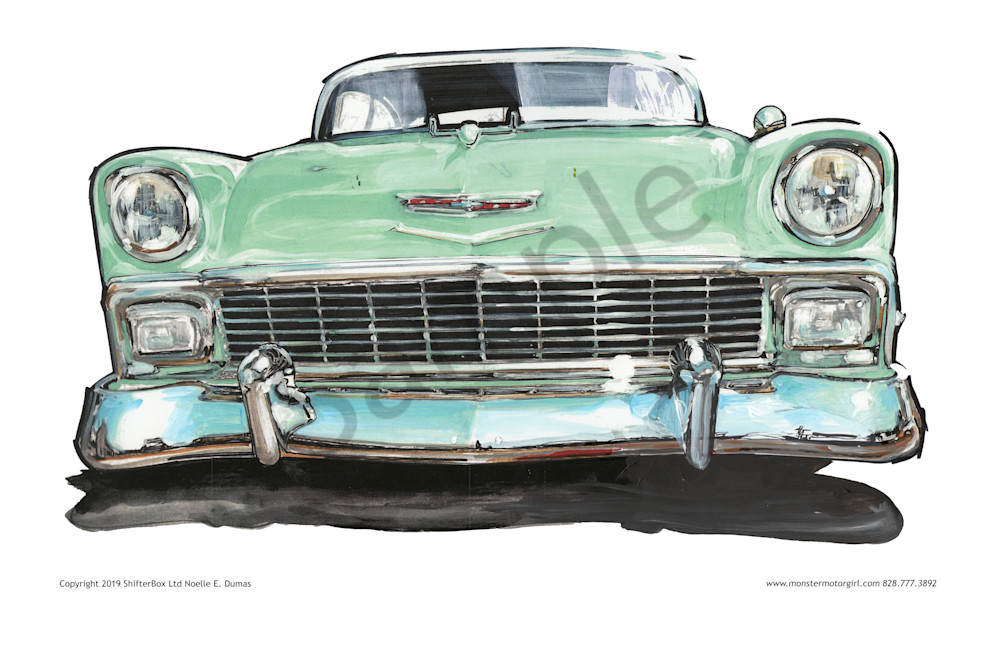 1956 Chevy Bel Air Face